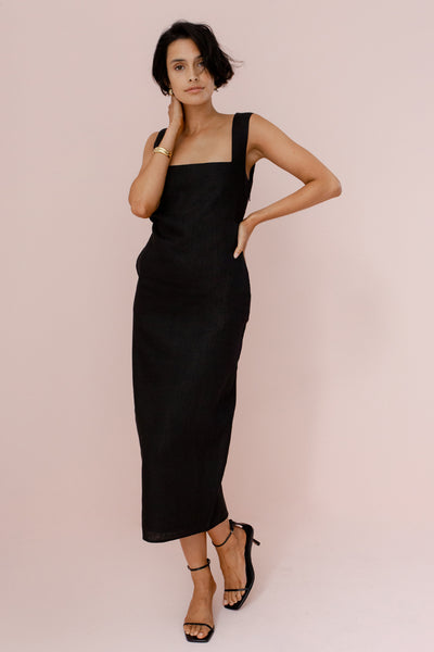 ALICE MIDI DRESS - BLACK