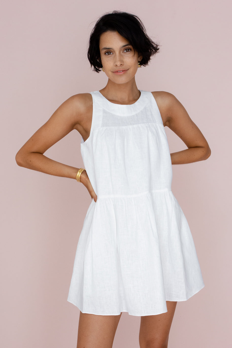 MAYBELLE DRESS - IVORY