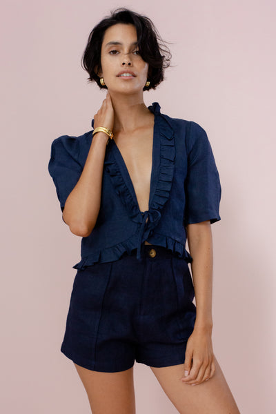 WILLOW BLOUSE - FRENCH NAVY