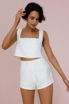 ALICE CROP TOP - IVORY