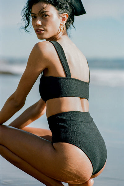 POSSE X WANDERLUST SWIM - NINA TOP - BLACK