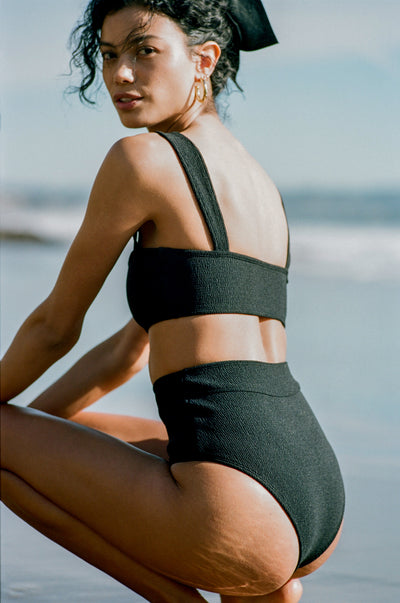 POSSE X WANDERLUST SWIM - MARLOWE BOTTOM - BLACK