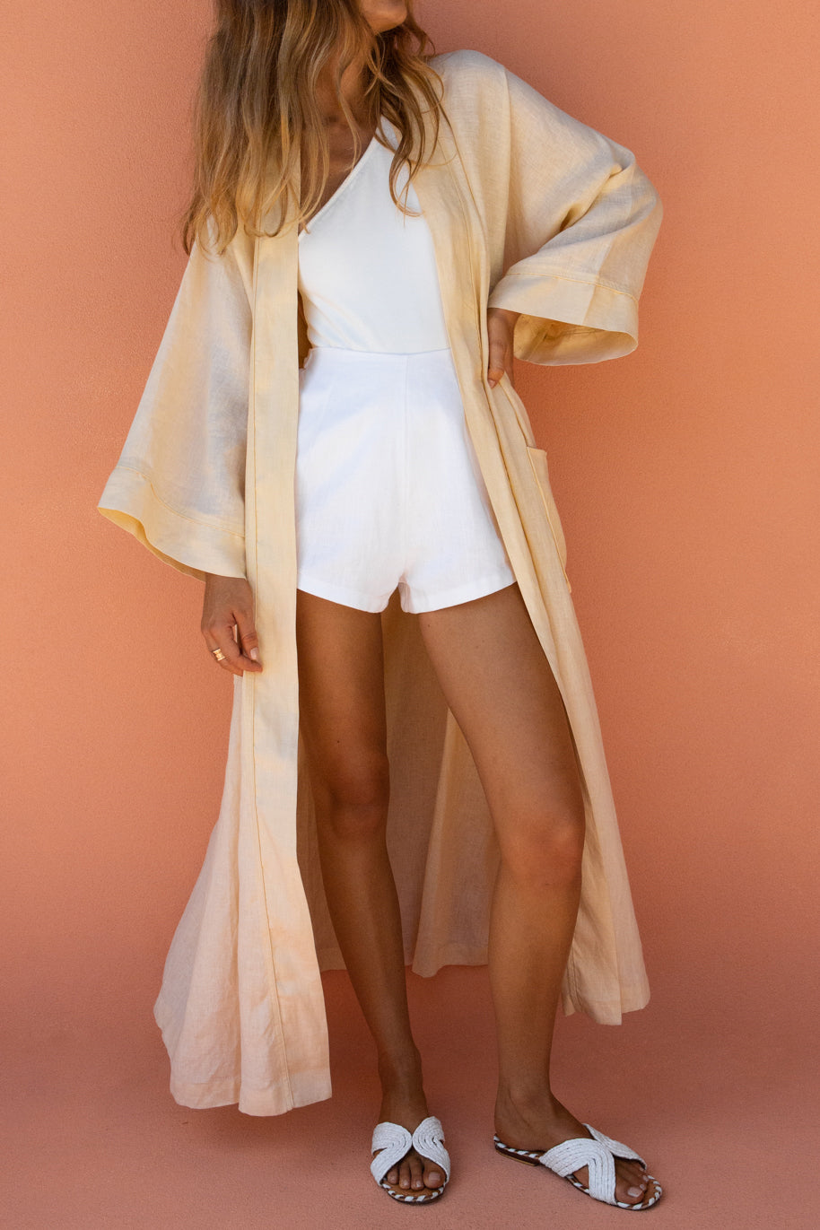 JEROME BEACH ROBE - STRAW