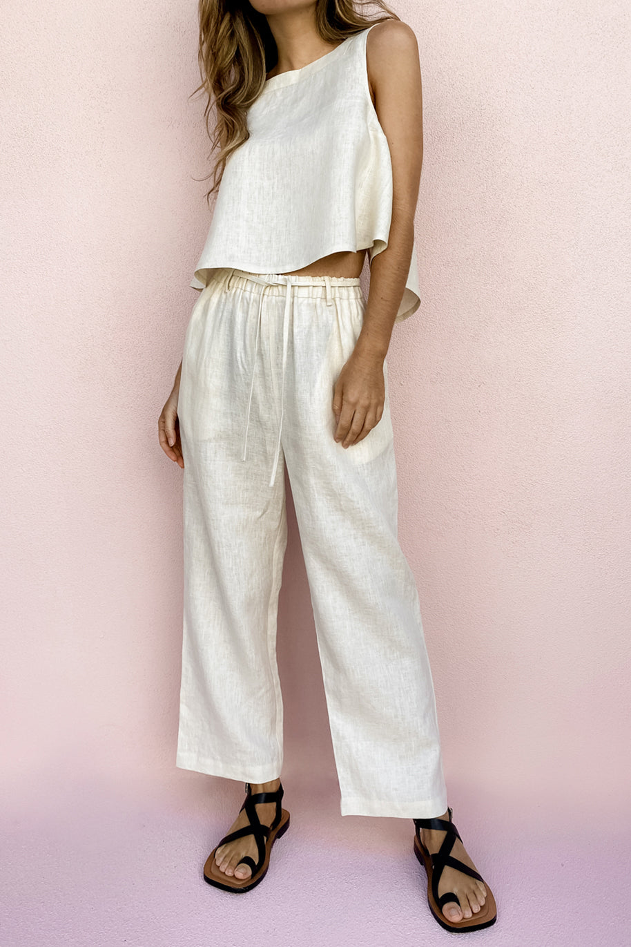 SIONA PANT - CLOUD CREAM