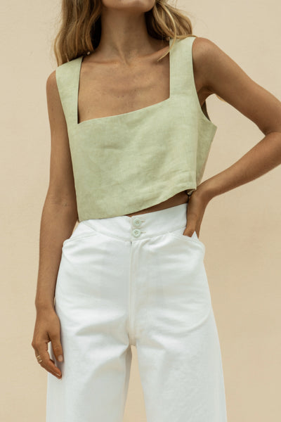 ALICE CROP TOP - MOSS