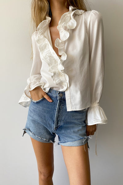 FLORENCE BLOUSE - ANTIQUE WHITE