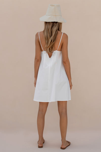 GOLDIE MINI DRESS - WHITE