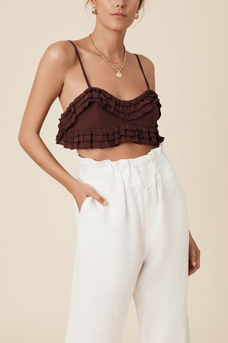 PEARL BRALETTE - CHOCOLATE
