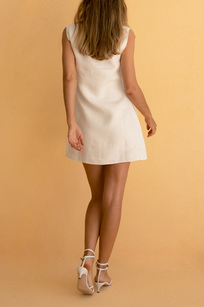 ALICE MINI DRESS - WHITE