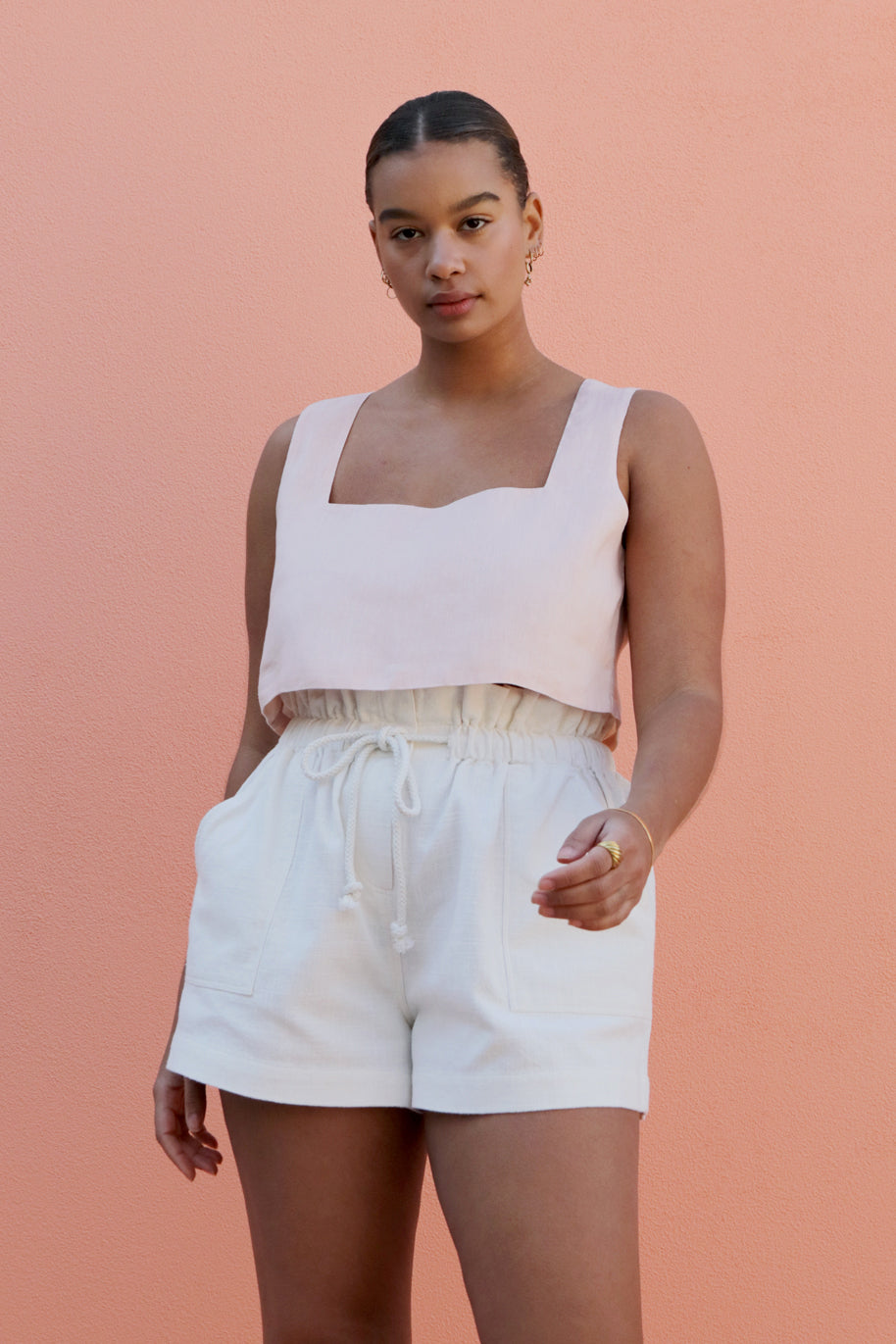 ALICE CROP TOP - PALE BLUSH
