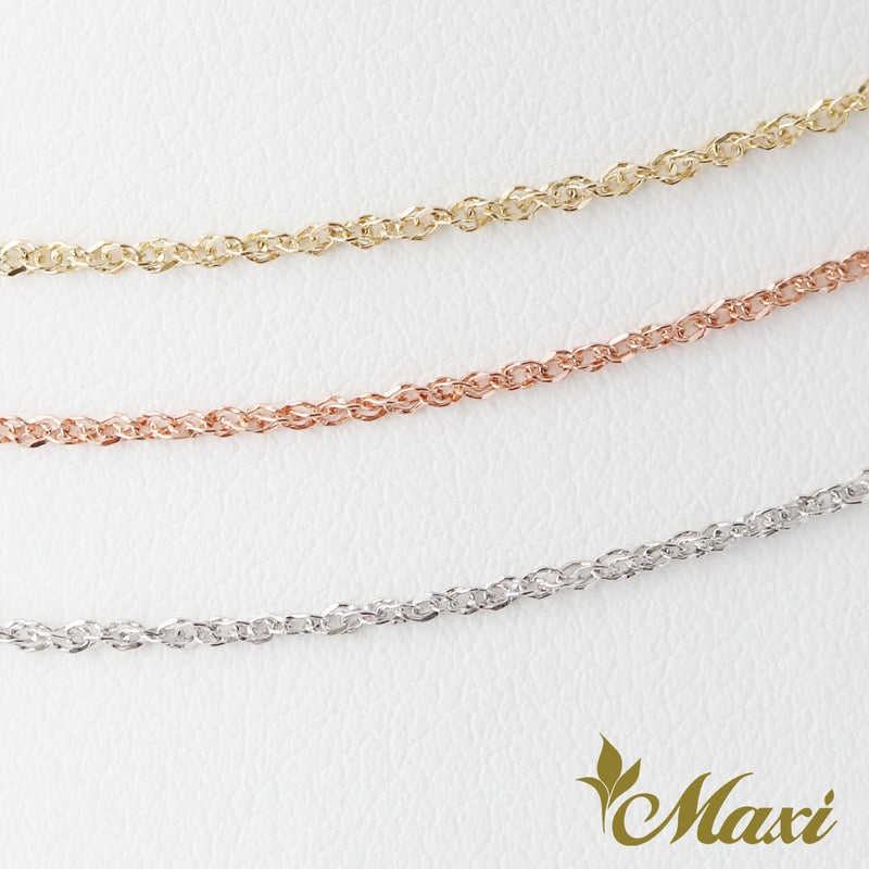 [14K Gold] 0.9mm Baby Rope Chain
