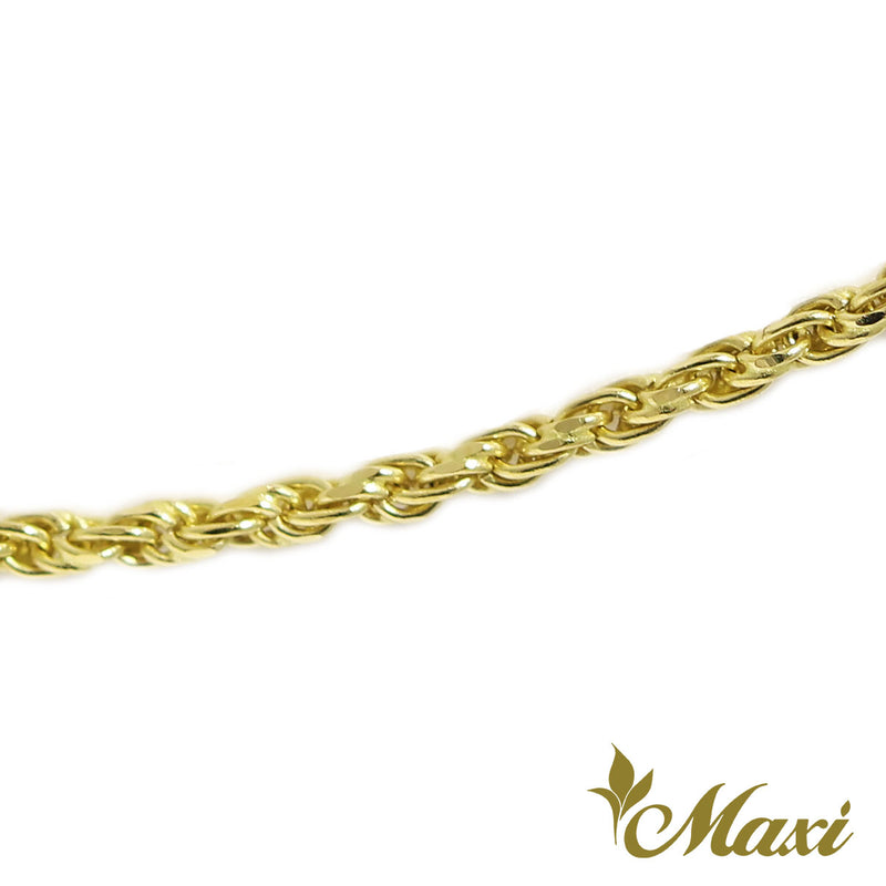 [14K Gold] Yellow Gold 1.5mm Rope Chain