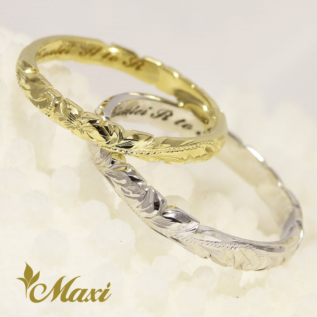 [18K Gold] 2.5mm&3mm Couple Ring *Made to order*