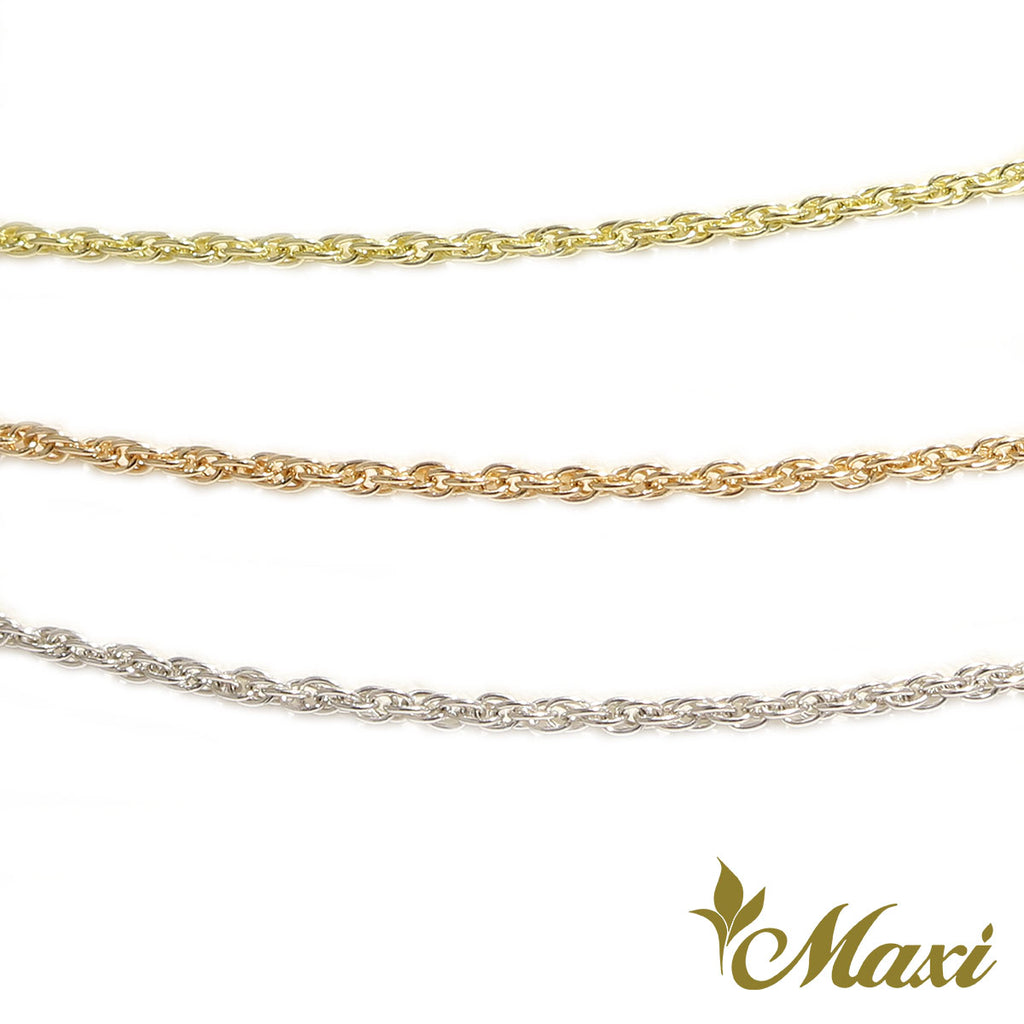 [14K Gold] 1mm Rope Chain