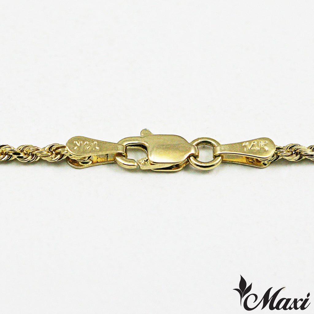 14K Yellow Gold Rope Chain 1mm