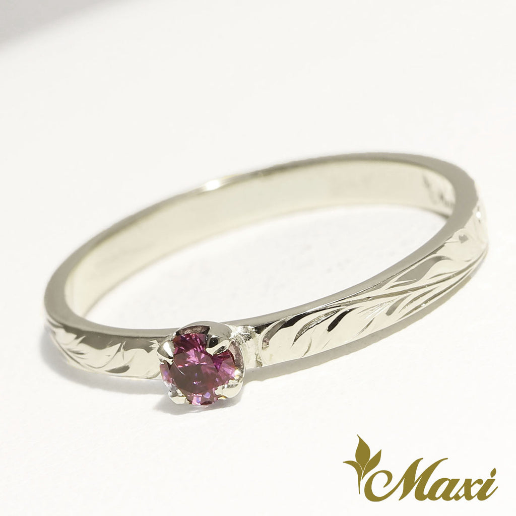 [Platinum] 2mm Ring with Saphire-Fashion/Engagement/Custom [Made to Order]