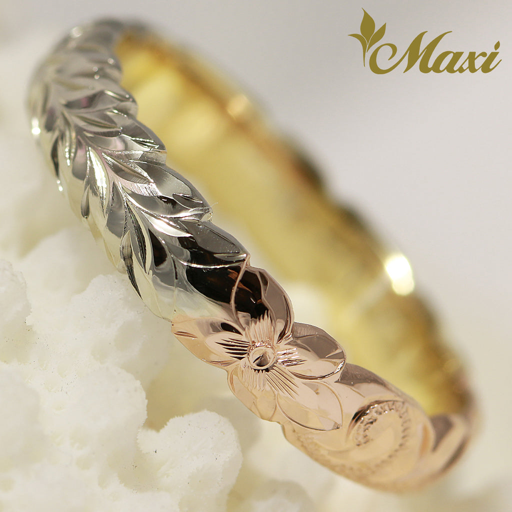 [14K Gold] 3-Tone 4mm Ring *Made to Order*TRDSP