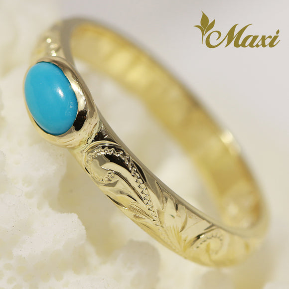 [14K Gold] 3mm Turquoise Ring [Made to Order]