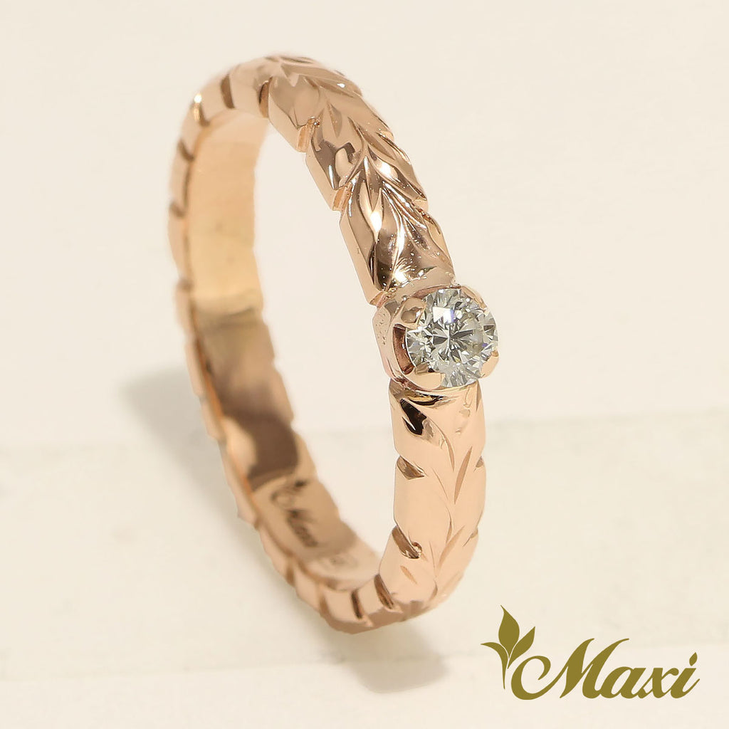 [18K Gold] 3mm Ring with Diamond-Fashion/Engagement/Custom [Made to Order]