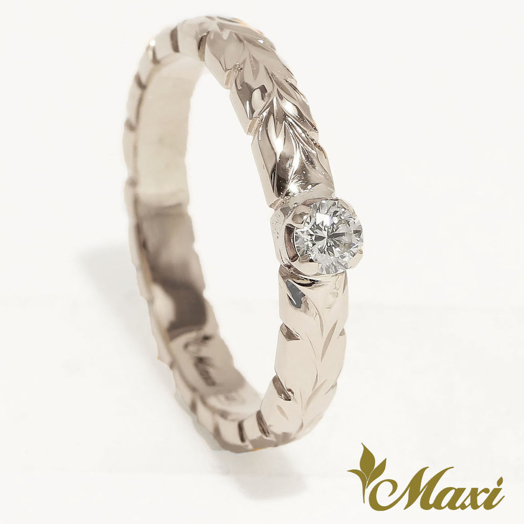 [Platinum] 3mm Ring with Diamond-Fashion/Engagement/Custom [Made to Order]