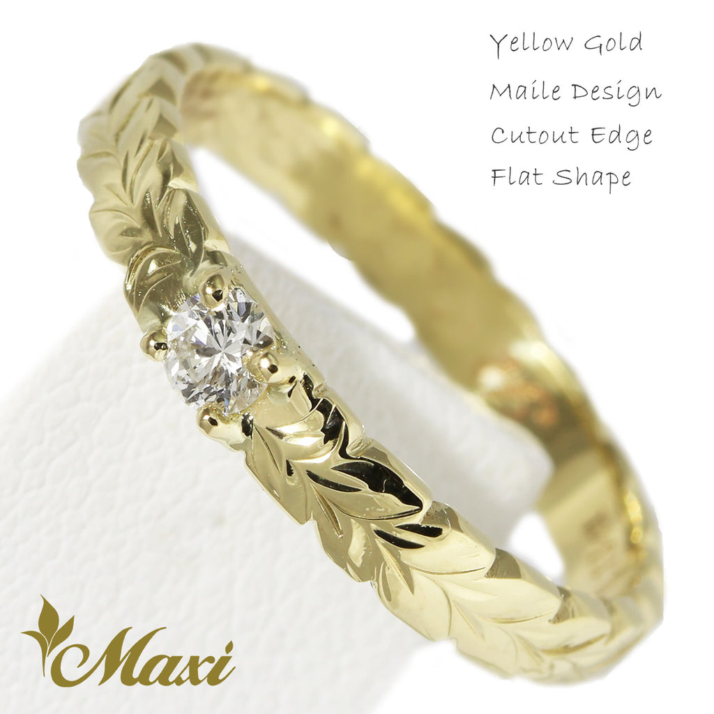 [14K Gold] 3mm Ring with Diamond-Fashion/Engagement/Custom [Made to Order]