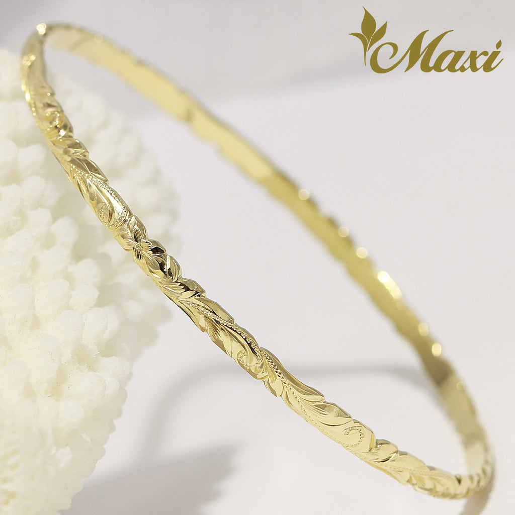 [14K Gold] Customized 3mm Close Bangle Bracelet*Made-to-order*