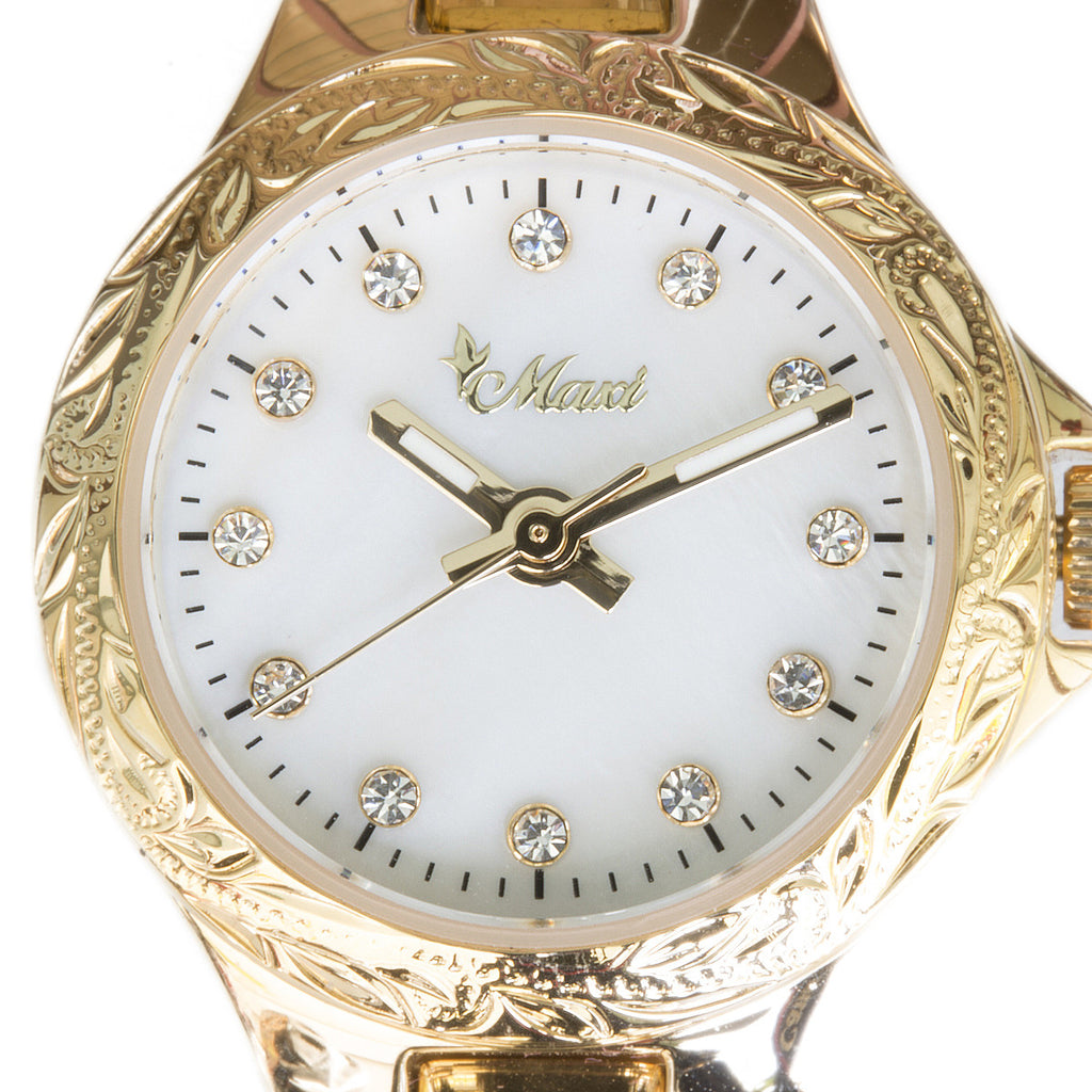 Shell Face Watch Yellow Gold