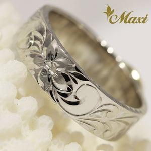 [14K Gold] 6mm Princess Scroll Ring *Made to Order*TRDSP