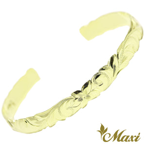 [14K Green Gold] 6mm Open Bangle Bracelet/ Barrel *Made-to-order*TRDSP