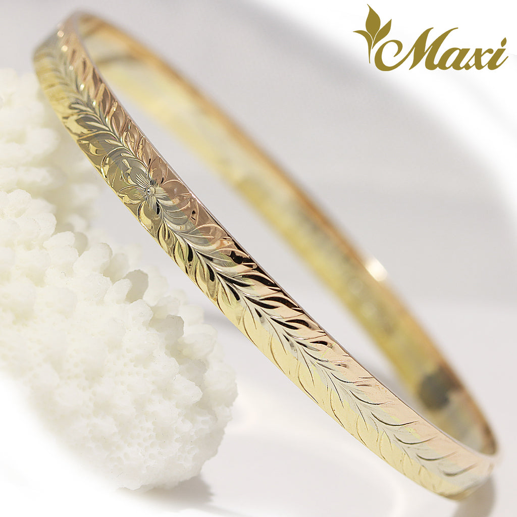 [14K Gold] Anuenue(Rainbow)/ 6mm Width Close Bangle Bracelet *Made to Order*