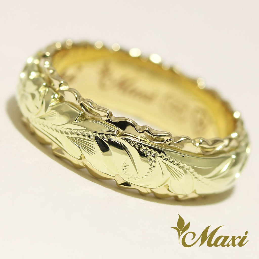 [14K Gold] Two Tone Ring 6mm/4mm *Made to Order* GG / YG*Promotion