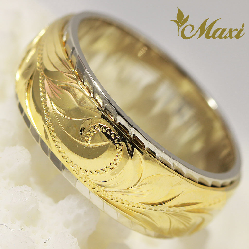 [14K Gold] Two Tone Ring 8mm/6mm [Made to Order] *Promotion
