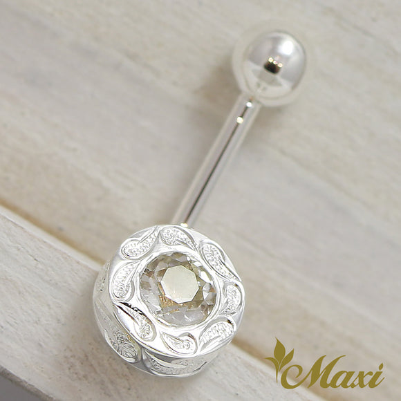 Silver 925 -Body Pierce/Hand Engraved Traditional Hawaiian Design(A0250)