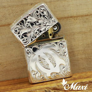 Copper Silver Coating-Hand Engraved Traditional Hawaiian Design(A0384)
