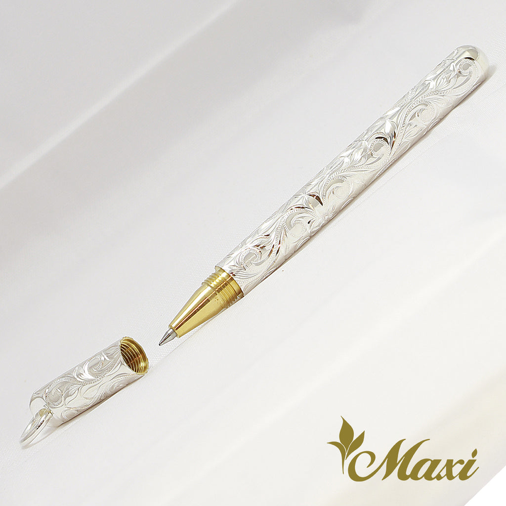 [Silver 925] -Short Hand Engraved Traditional Hawaiian Design (A0495) *SALE