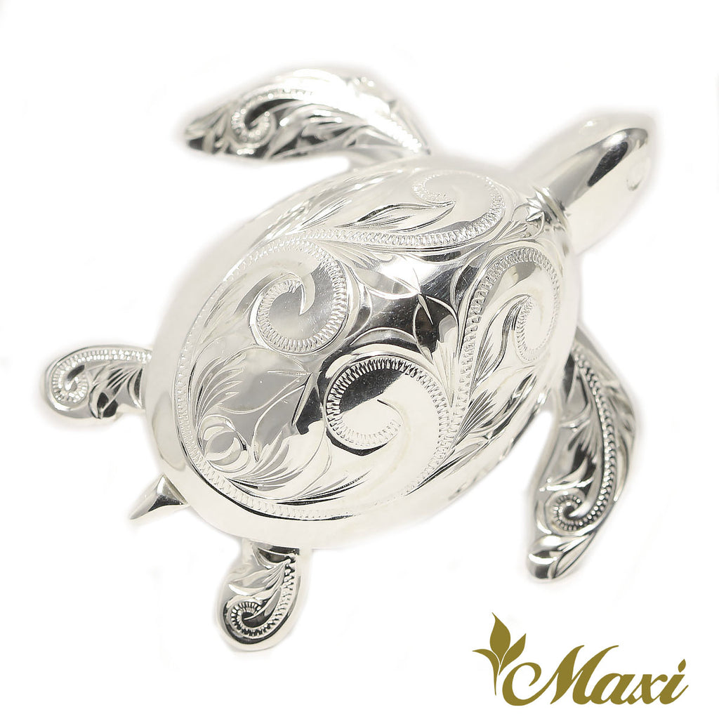 [Silver925]Honu(Hawaiian Sea Turtle)Display Figure*Made-to-order* ホヌの置き物(A0507)