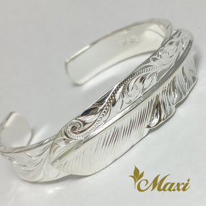 [Silver 925] Bangle-Hand Engraved Traditional Hawaiian Design*Made-to-order* (B0568)