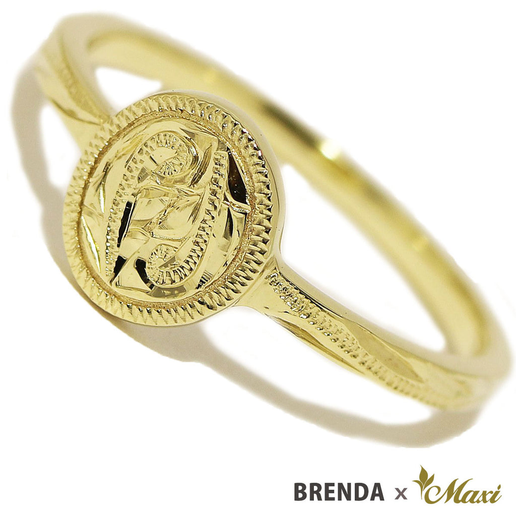 [14K Gold] Brenda x Maxi / Coin Edge Petite Disc Ring (R0827)