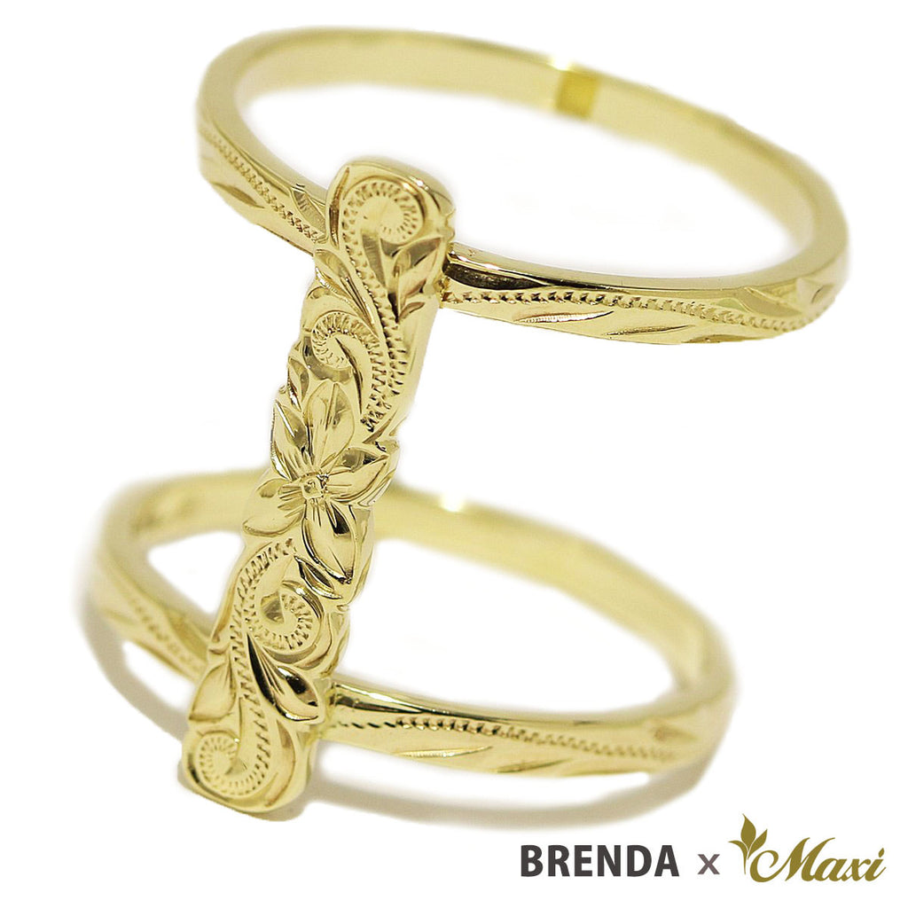 [14K Gold] Brenda x Maxi / Scallop Edged Bar Ring *Made-to-order*(R0882)