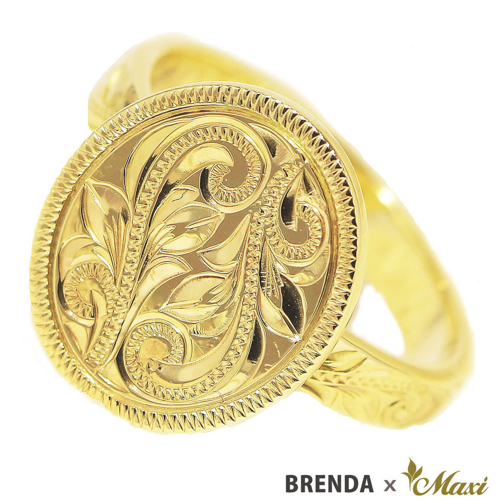 [14K Gold] Brenda x Maxi / Oval Disc Ring (R0829)