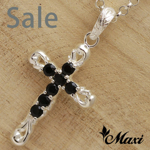 Silver 925 Black Onyx-Hand Engraved Traditional Hawaiian Design (C0144) SALE