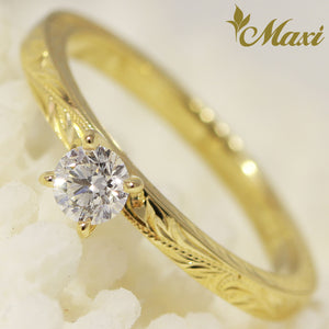 [14K Gold] 0.3ct Diamond Ring*Made-to-order* (TRD Flat 2×2)