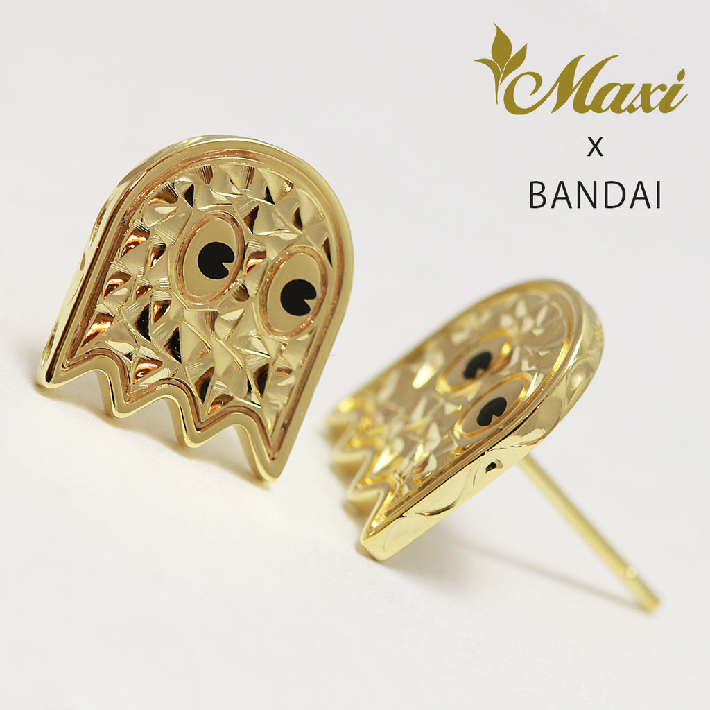 [14K Yellow Gold] Pac-Man Series/ Pierced Earring ~Maxi x Bandai Collaboration Item~ (E0228)