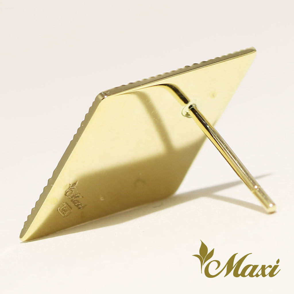 [14K Gold] Brenda x Maxi Diamond Shaped Pierced Earring *Made-to-order*(E0231)