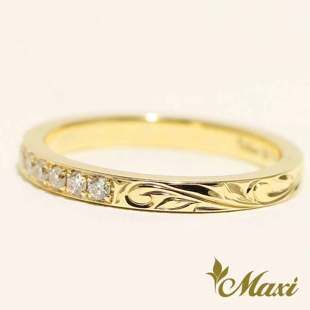 [14K Gold]Half Eternity Ring-1.5mm Diamond *Made to order*