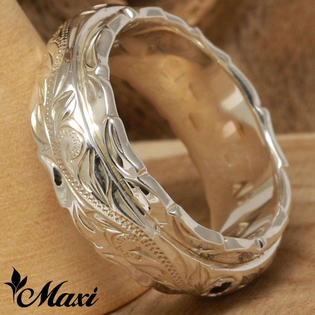 [Silver 925] Solid Color 8mm Two Tone Ring [Made to Order] (R0737)