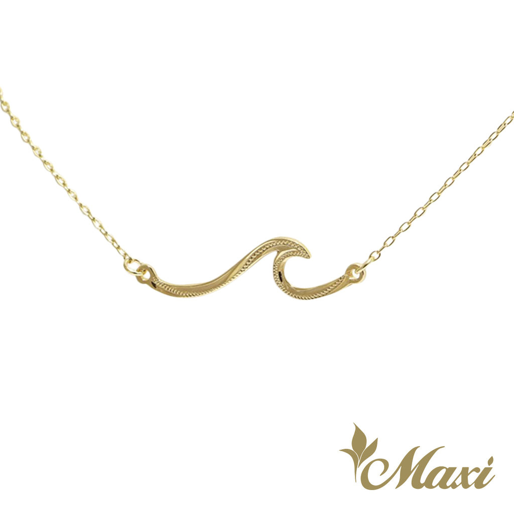 [14K Gold] Nalu Wave Necklace *Made-to-order*Newest