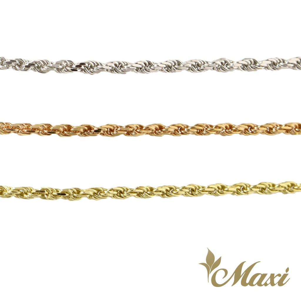 [14K Gold] 2mm Rope Chain