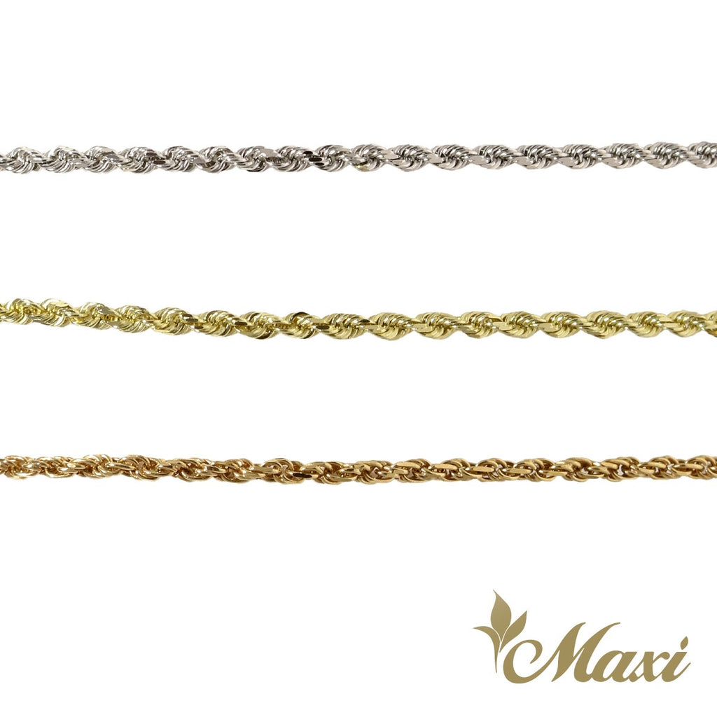 [14K Gold] 1.5mm Rope Chain