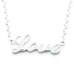 Silver 925 Letter Necklace Small